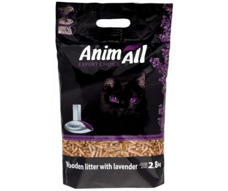 AnimAll древесный наполнитель для кошачьего туалета с ароматом лаванды