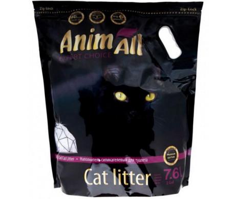 """AnimAll """"Премиум"""" фиолетовый аметист силикагель наполнитель для кошачьего туалета"""