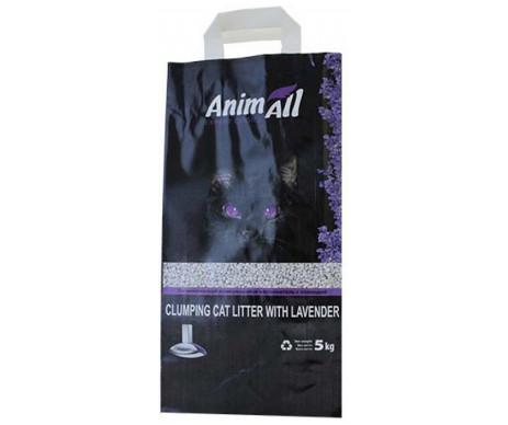 AnimAll Лаванда Бентонитовый наполнитель для кошачьего туалета средняя фракция