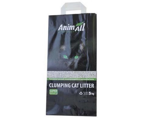 AnimAll Натурал Бентонитовый наполнитель для кошачьего туалета средняя фракция