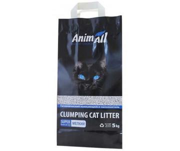 AnimAll Натурал Бентонитовый наполнитель для кошачьего туалета мелкая фракция