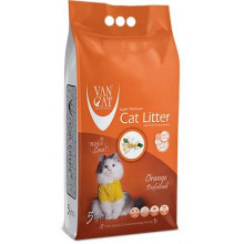 VanCat аромат Оранж бентонитовый наполнитель для кошачьего туалета