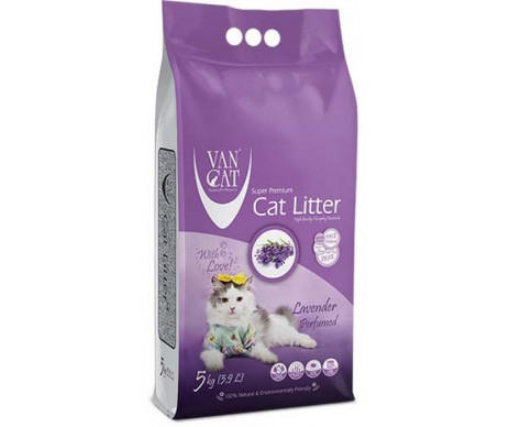 VanCat аромат Лаванда бентонитовый наполнитель для кошачьего туалета