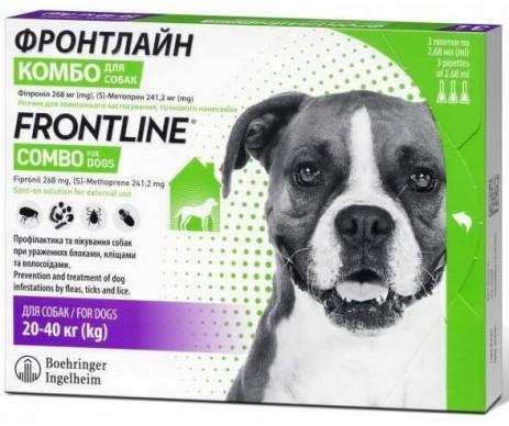 Frontline Combo Фронтлайн Комбо капли от блох и клещей для собак
