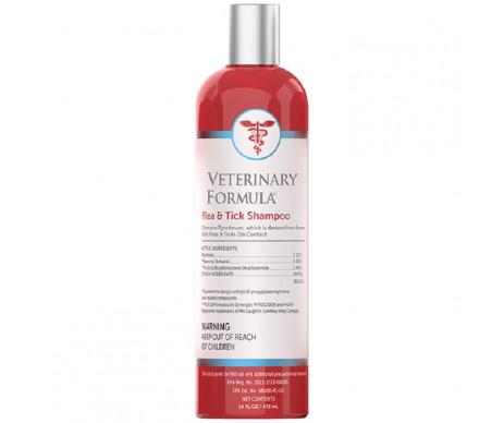 Veterinary Formula Flea&Tick Shampoo шампунь от блох и клещей для собак, с алоэ и ланолином