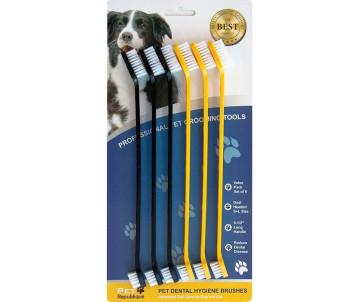 Pet Republique Двухсторонняя зубная щетка, для собак и котов