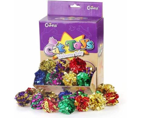 Chiwava Блестящий шуршащий шар-игрушка для кошки