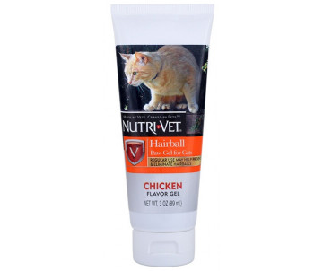 Nutri-Vet Hairball Chicken Гель для выведение шерсти для кошек, курица