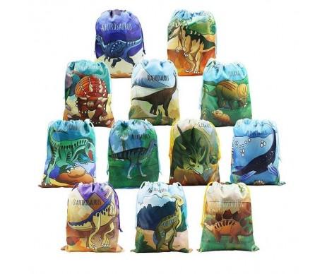 BeeGreen Dinosaur универсальный мешочек для детей на шнуровке с принтом динозавр