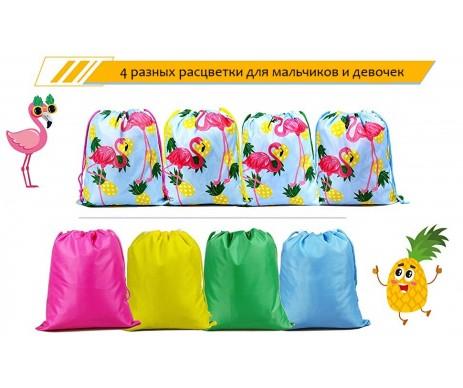BeeGreen Hawaiilian Luau Flamingo and Pineapple универсальный мешочек для детей на шнуровке с принтом фламинго и ананас