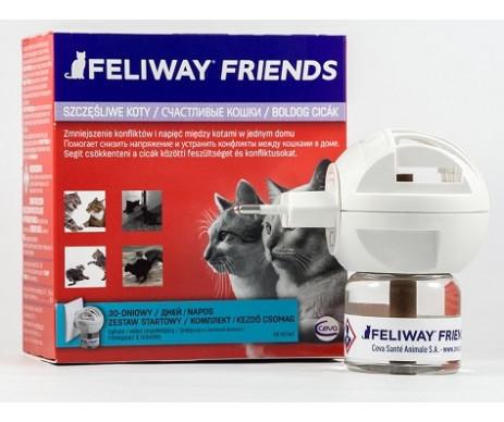 Ceva Feliway Friends (диффузор + сменный блок) Устройство для снятия стресса и коррекции поведения у кошек при групповом содержании
