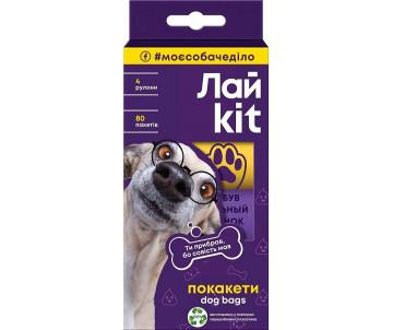 ЛайKit Пакеты для ухода за животными, в картонном боксе, 4 рулона