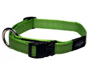 Rogz Utility Green Нейлоновый ошейник для собак, салатовый