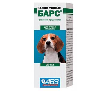 АВЗ «Барс» Капли ушные для котов и собак