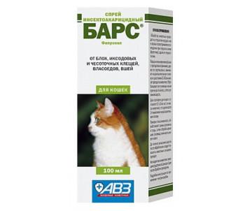 АВЗ Барс Инсектоакарицидный спрей для кошек