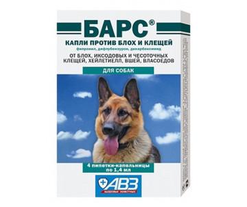 АВЗ Барс Капли от блох и клещей для собак