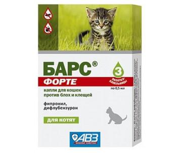 АВЗ Барс форте Капли от блох и клещей для котят с 8-недельного возраста