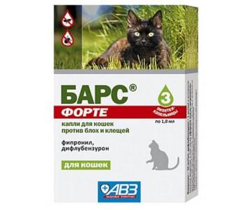 АВЗ Барс форте Капли от блох и клещей для котов