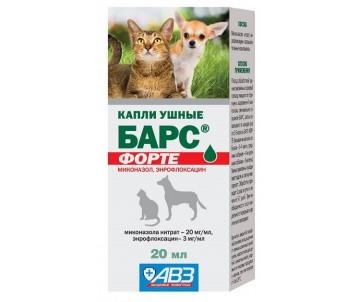 АВЗ «Барс форте» Капли ушные для котов и собак