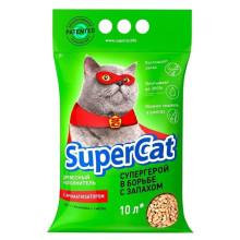 Super Cat с ароматизатором древесный наполнитель для кошачьего туалета