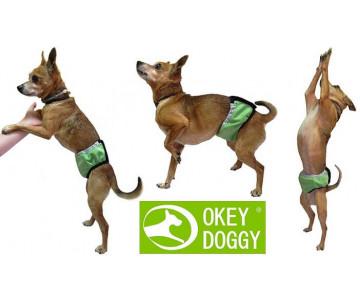 Okey Doggy Гигиенический впитывающий пояс для кобелей, Зеленый