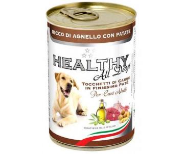 Healthy All days Dog Паштет с кусочками ягненка и картошки для собак