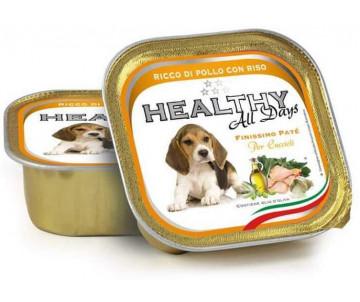 Healthy All days Dog Паштет с кусочками курицы и риса для щенков