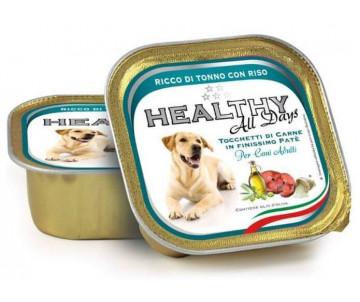 Healthy All days Dog Паштет с кусочками тунца и риса для собак
