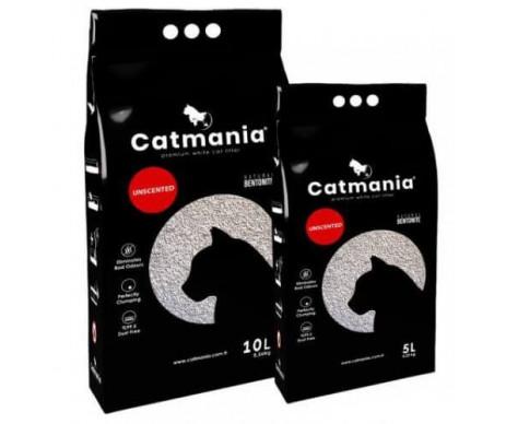 Catmania бентонитовый наполнитель для кошачьего туалета Натуральный белый