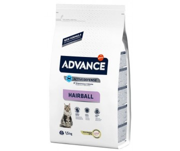 Advance Hairball Turkey&Rice Индейка и рис для котов выведение шерсти