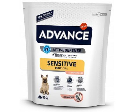 Advance Mini Sensitive Лосось и рис сухой корм для собак