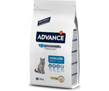 Advance Sterilized Turkey&Barley Индейка и ячмень сухой корм для стерилизованых котов