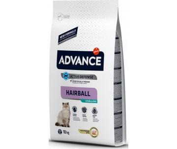 Advance Sterilized Hairball Turkey&Barley Индейка и ячмень сухой корм для стерилизованых котов выведение шерсти