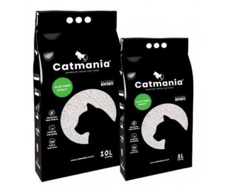 Catmania бентонитовый наполнитель для кошачьего туалета Алоэ вера + зелёные гранулы