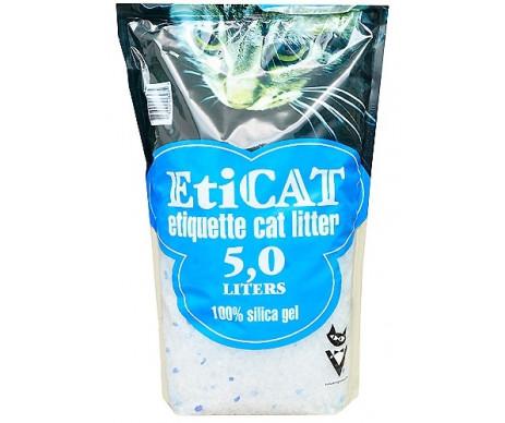 EtiCAT силикагелевый наполнитель для кошачьего туалета