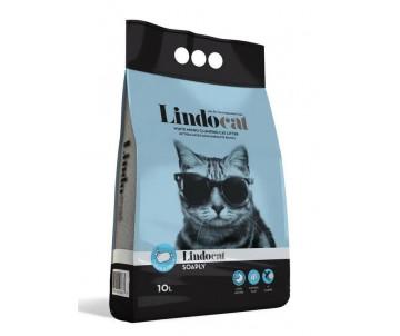 Lindocat Soaply Clean&Fresh бентонитовый наполнитель для кошачьего туалета аромат мыло