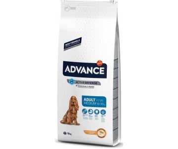 Advance Medium Adult Курица и рис сухой корм для собак