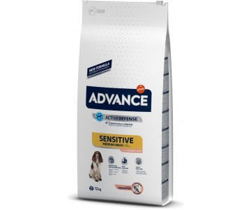 Advance Sensitive Medium-Maxi Лосось и рис сухой корм для собак