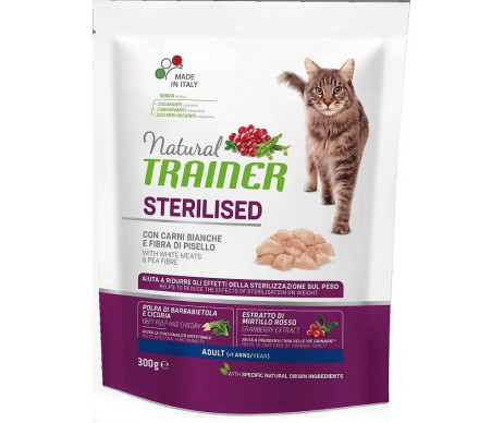 Trainer Cat Natural Adult Sterilised With White Meats