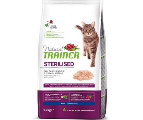 Trainer Natural Cat Adult Sterilised White Meats