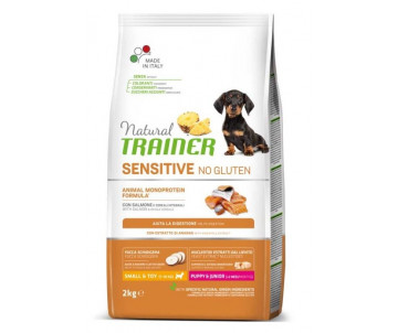 Trainer Natural Dog Puppy Junior Sensitive Mini Salmon