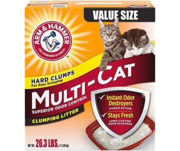 ARM&HAMMER Multi-Cat комкующийся наполнитель для кошачьего туалета, ароматизированный