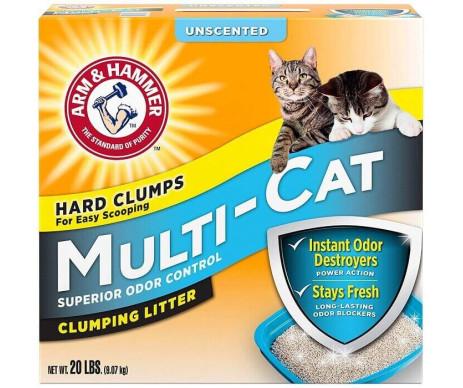 ARM&HAMMER Multi-Cat Strength Clumping Litter Unscented мультикет, комкующийся наполнитель для кошачьего туалета, без аромата