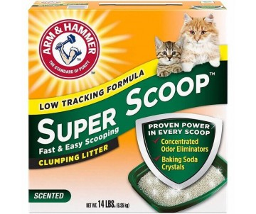 ARM&HAMMER Super Scoop Clumping Litter Fragrance Free, комкующийся наполнитель для кошачьего туалета, без аромата