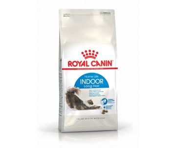 Royal Canin INDOOR LONGHAIR сухой корм для домашних длинношерстных кошек от 1 до 7 лет