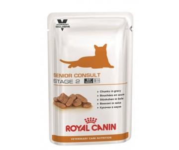 Royal Canin SENIOR CONSULT STAGE 2 Pouches влажный корм для котов от 7 лет с признаки старения