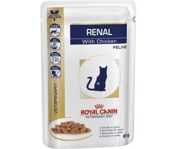 Royal Canin RENAL FELINE CHICKEN ветеринарная диета для кошек при болезнях почек