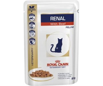 Royal Canin RENAL FELINE BEEF ветеринарная диета для кошек при болезнях почек