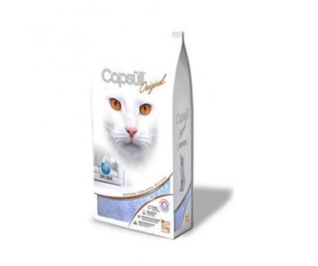 Capsull Original baby powder кварцевый наполнитель для туалетов кошек