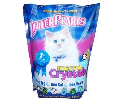 Litter Pearls Micro Crystals кварцевый наполнитель для кошачьего туалета